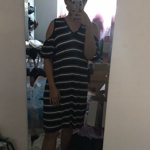 NWT Max Studio Black & White OTS Loose Dress Sz s